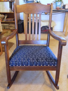 Re-uholstered Rocking Chair