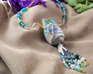 African Turquoise Amulet Pouch