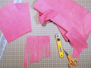 Cutting purse pieces
