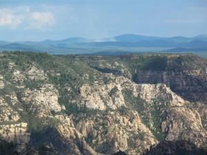 Mogollon Rimb, View over Sedona