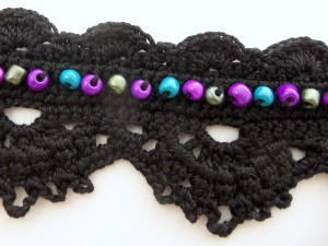 Crochet Black Lace Bracelet