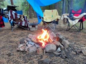 Camp near the Piedra River
