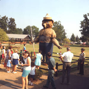 Smokey Bear, Ohio State Fair (Ohio Historical Society)