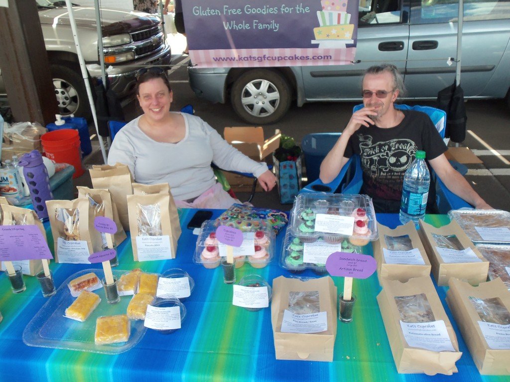 Kat's Cupcakes booth at the Flagstaff Farmers' Market